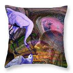Climate Change Throw Pillow featuring the digital art Solar Whisper Winds I'm Changing by Joseph Mosley