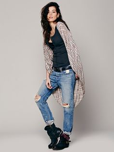 Free People Printed Maze Long Cape, $98.00