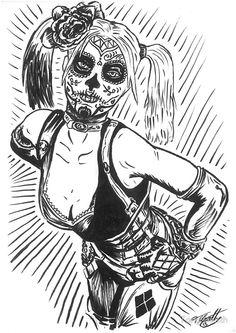 harley quinn sugar skull | flat,800x800,070,f.u1.jpg