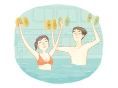 Aquaforme Laissez-vous submerger jusqu'aux épaules et déhanchez-vous sur des rythmes endiablés! Les cours sont donnés en groupe dans la piscine.