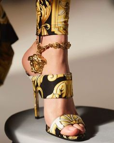 Versace Baroque SS92 Medusa sandal, from the Versace Tribute collection