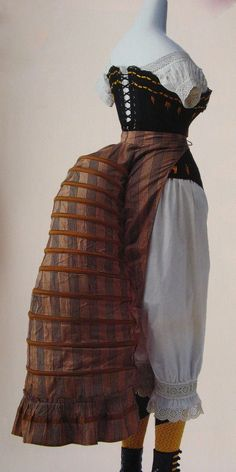 Underpinnings: Bustle, Corset, Chemise, and Drawers, ca. 1870-80s.