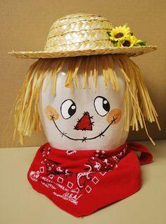 Scarecrow Gourd on Etsy, $25.00