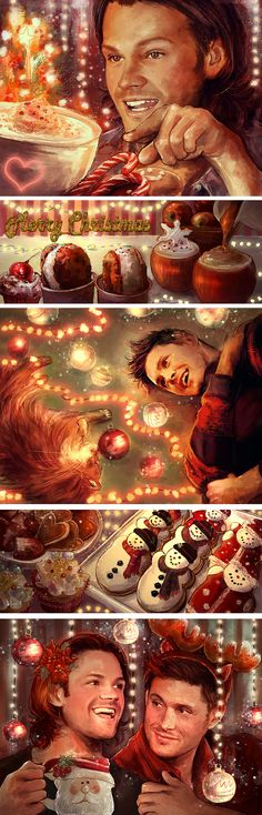Supernatural---J2 - Merry Xmas Y'all by Petite-Madame
