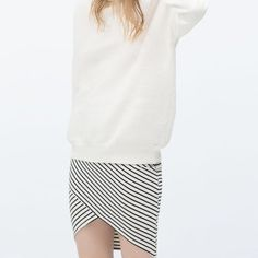 Zara Crossover Skirt Brand new with tags beautiful Zara skirt, size small runs slightly smaller than that. Zara Skirts