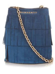 Mini fringed suede bucket bag | Burberry London | MATCHESFASHION.COM UK