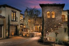 El Dorado Stone home exterior. Looks like it could be my own little Tuscan villa!