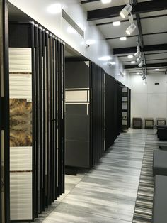 A 1200 sq ft showroom in a shed with more than 15000 sq ft tiles Display . Designed by Aecon projects