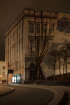 Curtains projection