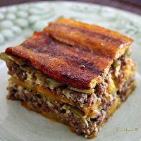 Love Dominican food! Sweet plantain pie.