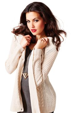 Cozy up in this lovely sweater this fall.