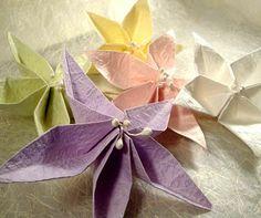 Origami Maniacs: Origami Jasmine Flower Napkin