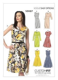 Vogue Sewing Patterns, Clothing Patterns, Dress Making Patterns, Princess Seam, Sewing Clothes, Dressmaking, Fashion Dresses, Easy, Clothes For Women