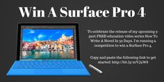 #Giveaway #Win a #Microsoft #Surface #Pro 4 #Tablet ( #Intel Core i5, 4GB RAM, 128GB) http://www.perrinbriar.com/giveaways/win-surface-pro-4-intel-core-i5-4gb-ram-128gb/?lucky=42538 via @perrinbriar