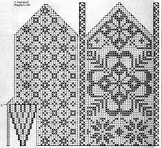 Klassiske vottar – Eg sa strikk! Knitting Charts, Knitting Stitches, Knitting Socks, Knitting Patterns Free, Hand Knitting, Knitted Mittens Pattern, Crochet Mittens, Knitted Gloves, Norwegian Knitting