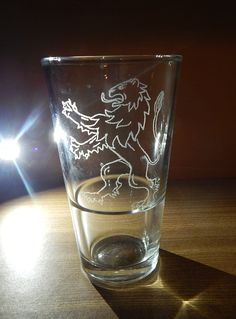 Glass Engraving - Game of Thrones: House Lannister - https://www.youtube.com/watch?v=CunOB2XIQaI