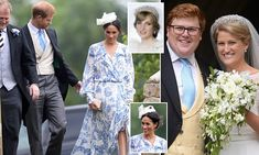 Meghan almost takes a tumble at the wedding of Diana's niece