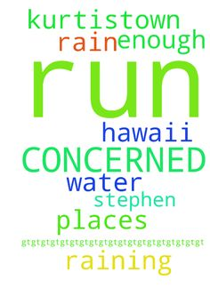 PLEASE PRAY FOR ME   I AM CONCERNED I WILL RUN OUT - PLEASE PRAY FOR ME I AM CONCERNED I WILL RUN OUT OF WATER AGAIN IN KURTISTOWN HAWAII. IT IS RAINING IN OTHER PLACES BUT NOT ENOUGH WHERE I AM. PLEASE PRAY TO JESUS THAT I GET RAIN. THANK YOU STEPHEN gt;gt;gt;gt;gt;gt;gt;gt;gt;gt;gt;gt;gt;gt;gt;gt;gt;gt;gt; Posted at: https://prayerrequest.com/t/yQ6 #pray #prayer #request #prayerrequest