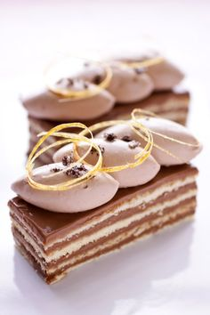 Vanilla Fleur de Sel, Caramel and Chocolate Dobos Torte (five-layer sponge cake with buttercream, chantilly & thin caramel slices)