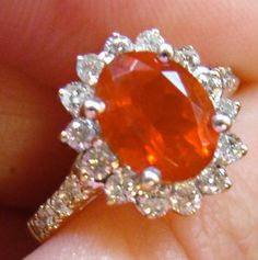 Mexican Fire Opal. I have a ring with this stone in it, and it's so pretty and unique.