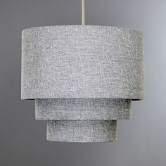 Fashioned with three stylish tiers and textured in a faux linen fabric, this timeless ceiling light shade will suit any home Lamp Shades, Light Shades, Bedroom Lighting, Bedroom Decor, Bedroom Ideas, Copper Lighting, Living Room Grey, Lamp Design, Soft Furnishings