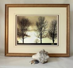 Cape Cod Trees in a Up Cycled Light  Wood Frame by MuttiArtography, $150.00