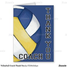 Volleyball Coach Thank You Greeting Card
