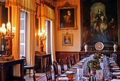 Downton Abbey dining room