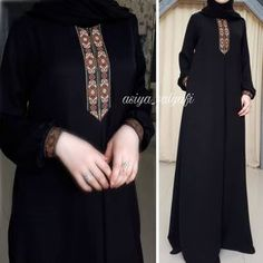 Image may contain: one or more people and people standing Hijab Gown, Kebaya Hijab, Hijab Style Dress, Hijab Outfit, Muslim Women Fashion, Islamic Fashion, Abaya Fashion, Fashion Dresses, Office Dress Code
