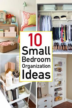 Looking for ways to organize your small bedroom? Check out these 10 smart and savvy small bedroom organization ideas that make a huge impact.