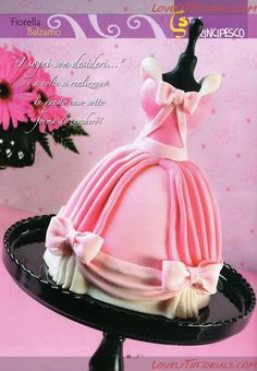 Cinderella dress cake tutorial
