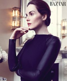 Downton Abbey: Must watch series!  --Michelle Dockery of Downton Abbey for Harper's Bazaar (plus an interview)