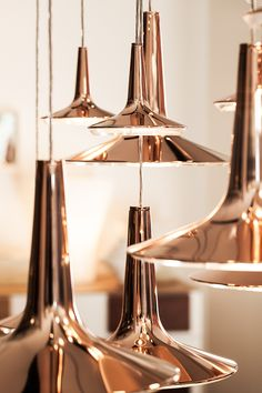 Lovely copper pendant lamps. I would use them in eclectic decor projects, 'cause they are modern and vintage at the same time.