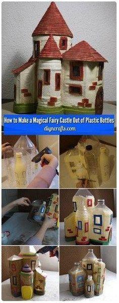 Idee creative dal web - Vi piace questo castello? Direste mai che è stato realizzato con le bottiglie di plastica? Un vero prodigio di riciclo creativo. E'