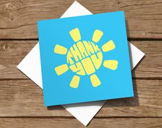 10 pack of Thank You cards with hand-drawn typography creating a sun shape. £4.99 with FREE delivery on Etsy