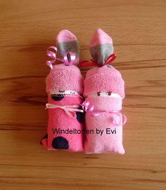 Windelbabys 'Girls', Mitbringsel zur Geburt von Windeltorten By Evi auf DaWanda.com