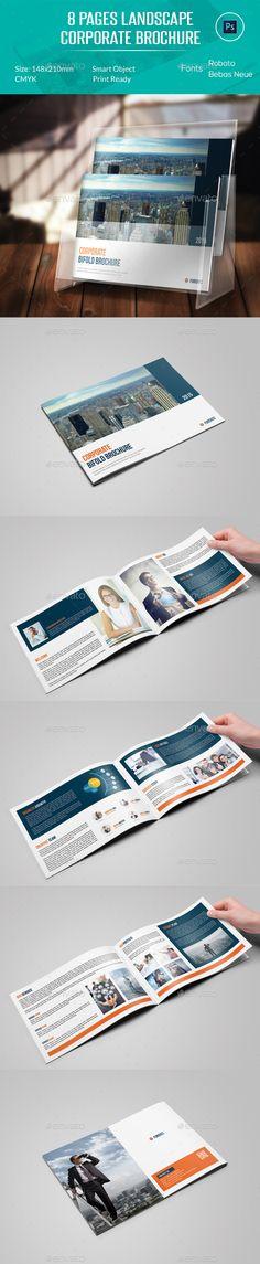 8 Pages Landscape Corporate Brochure Template #design Download: http://graphicriver.net/item/8-pages-landscape-corporate-brochure/12389389?ref=ksioks