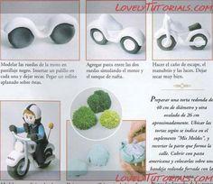 3Д мотоцикл из мастики -how to make 3D fondant gumpaste motorcycle - Мастер-классы по украшению тортов Cake Decorating Tutorials (How To's) Tortas Paso a Paso