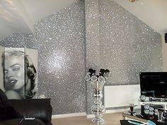 *SAMPLE* Glitter Wallpaper - Chunky Fabric - Gold, Silver, Black, Grey & Pink