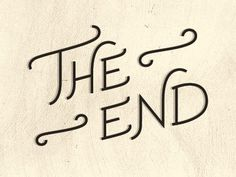 Image result for the end sign