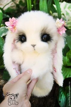 Bunny Monica made to order by Lastenka on Etsy Baby Animals Super Cute, Cute Baby Dogs, Cute Baby Bunnies, Cute Stuffed Animals, Cute Dogs And Puppies, Cute Little Animals, Cute Funny Animals, Baby Animals Pictures, Cute Animal Drawings