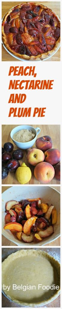 Peach, Nectarine and Plum Pie recipe by Belgian Foodie®