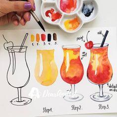 Watercolorist @dearannart . Отмечай нас #watercolor_daily - пусть твое творчество увидят миллионы . Tag us #watercolor_daily - let your creativity be seen by millions .