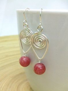 wire wrapped earrings patterns - Google Search