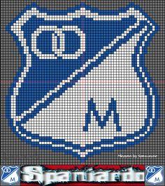- Escudos Liga Colombiana En Cuadriculas PS2 Tapestry Crochet, Hama Beads, Beaded Bracelets, Football, Stitch, Comics, Pattern, Vintage, Google