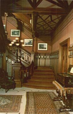 Ch 16 Aesthetic Movement: Mark Twain House stair hall. Aesthetic Movement was part of the Victorian Age which was a time when there were many different movements within this period.