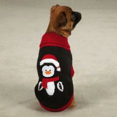 Adorable penguin sweater for your dog :)