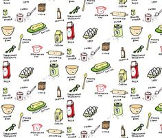Let's Bake! removable wallpaper from Spoonflower. Cute.