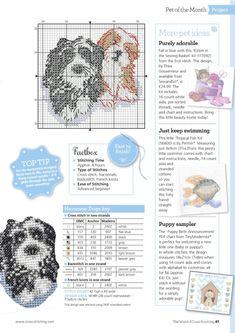 ru / Фото - The World of Cross Stitching 250 - tymannost Cross Stitch Charts, Cross Stitch Designs, Cross Stitch Patterns, Stitching Patterns, Knitting Charts, Knitting Patterns, Cross Stitching, Cross Stitch Embroidery, Dog Chart