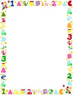 Printable preschool border. Free GIF, JPG, PDF, and PNG downloads at http://pageborders.org/download/preschool-border/